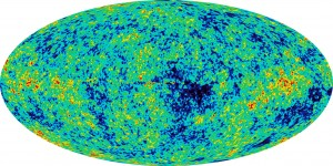 Baby Universe. Source: W-MAP, Wilkinson Microwave Anisotropy Probe. NASA, Public Domain.
