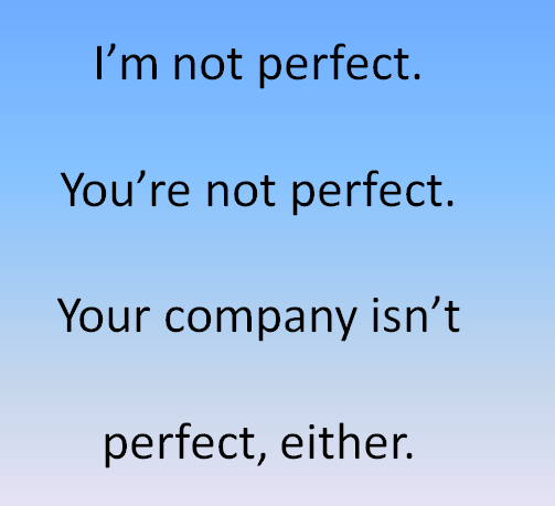 Nobody's Perfect: A Lesson in Social Customer Service